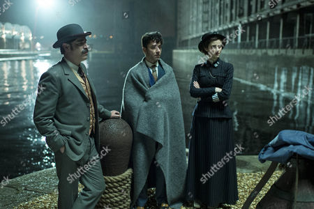 Arthur Conan Doyle, Stephen Mangan, Harry Houdini, Michael Weston and Adelaide Stratton, Rebecca Liddiard