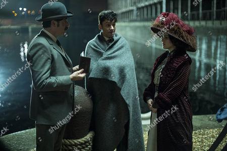 Arthur Conan Doyle, Stephen Mangan, Harry Houdini, Michael Weston and Madam Korzha, Emily Hampshire