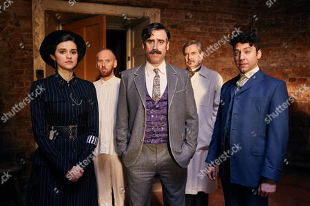 Stock Photo of Adelaide Stratton, Rebecca Liddiard, Sherlock Holmes, Ewen Bremner, Arthur Conan Doyle, Stephen Mangan, Doctor Pilsen, James Fleet