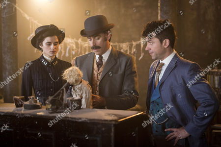 Adelaide Stratton, Rebecca Liddiard, Arthur Conan Doyle, Stephen Mangan and Harry Houdini, Michael Weston