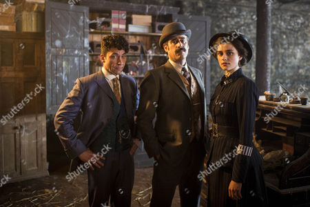 Harry Houdini, Michael Weston, Arthur Conan Doyle, Stephen Mangan and Adelaide Stratton, Rebecca Liddiard