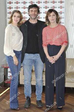 Claudia Gerini, Luca Lucini and Margherita Buy
