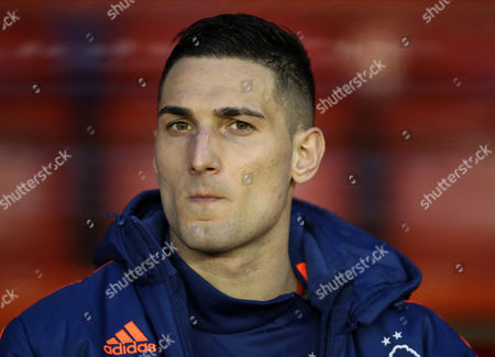 Stock Picture of Nottingham Forest's Federico Macheda during the Sky Bet Championship League match between Nottingham Forest and Brighton and Hove Albion played at The City Ground, Nottingham on April 11th 2016