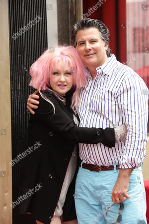 Stock Picture of Cyndi Lauper and David Thornton