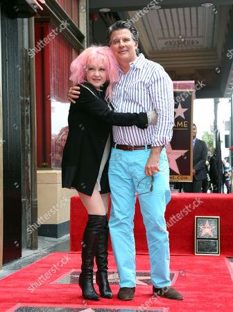 Editorial photo of Cyndi Lauper and Harvey Fierstein honored with a star on the Hollywood Walk Of Fame, Los Angeles, America - 11 Apr 2016