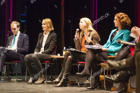 Mayoral candidates including James Berry, MP for Kingston upon Thames standing in for Zac Goldsmith, MP (Conservative), Sophie Ward (Women's Equality Party), Cllr Sian Berry (Green), Peter Whittle (UKIP) and George Galloway (Respect) attend a lively debate at South West London Question Time at Sutton's Secombe Theatre, where the public get a chance to put question to prospective candidates about local issues ahead of the vote on May 5th