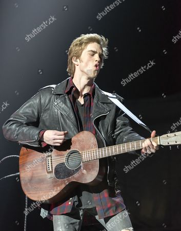 Editorial photo of Jessarae in concert at First Direct Arena, Leeds, Britain - 11 Apr 2016