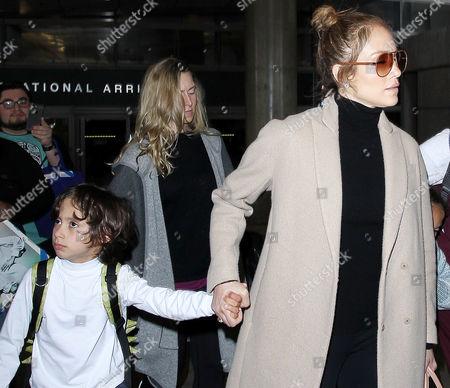 Stock Image of Jennifer Lopez with son Max Anthony