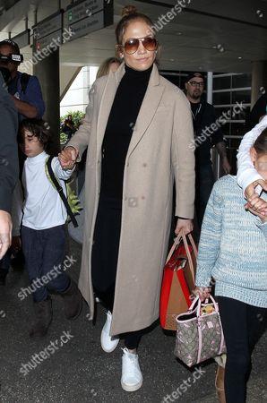 Stock Photo of Jennifer Lopez with son Max Anthony