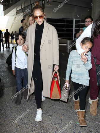 Jennifer Lopez with son Max Anthony and daughter Emme Maribel Muniz
