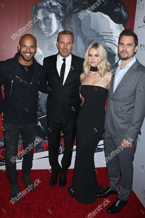 Amaury Nolasco, Kevin Costner, Alice Eve and Director/Producer Ariel Vromen