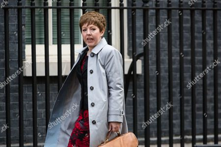 Baroness Stowell arrives for a cabinet meeting at 10 Downing Street.