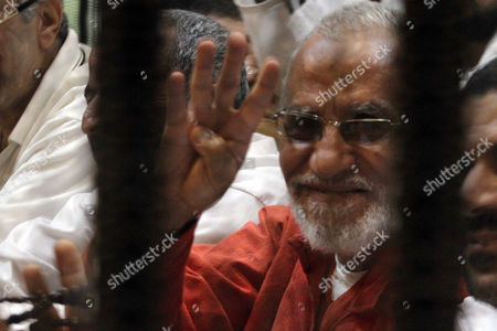 Editorial picture of Muslim Brotherhood trial, Cairo, Egypt - 12 Apr 2016