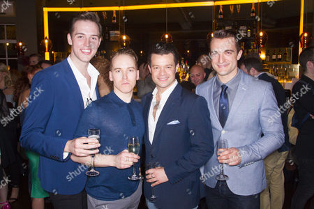 Declan Egan (Bob Gaudio), Matt Corner (Frankie Valli), Simon Bailey (Tommy De Vito) and Matt Hunt (Nick Massi)