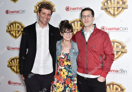Stock Picture of Nicholas Stoller, Katie Crown and Andy Sandberg
