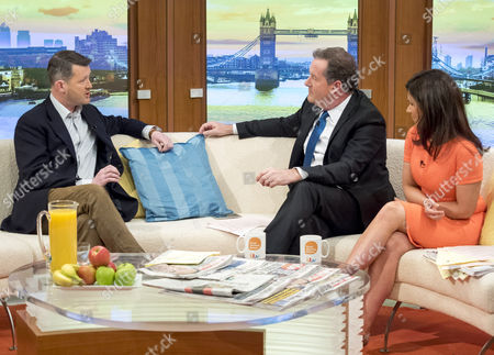 Diggory Hadoke, Piers Morgan and Susanna Reid