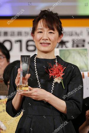 Editorial image of Natsu Miyashita wins Nationwide Booksellers Award, Tokyo, Japan - 12 Apr 2016