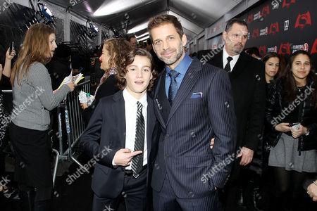 Brandon Spink and Zack Snyder