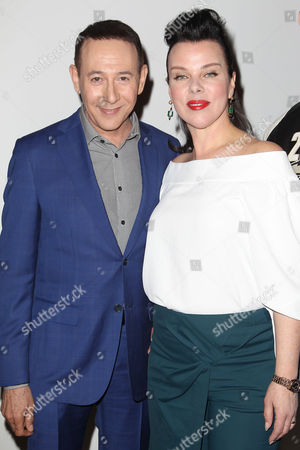 Paul Reubens and Debi Mazar