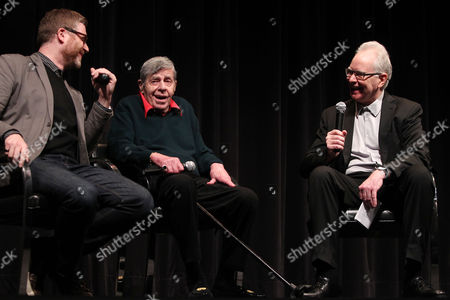 Stock Picture of Daniel Noah (Director; Max Rose), Jerry Lewis and Dave Kehr (MoMA)