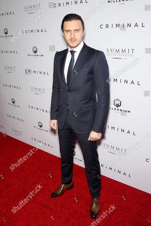 Editorial photo of 'Criminal' film premiere, New York, America - 11 Apr 2016