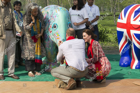 Prince William and Catherine Duchess of Cambridge visit the Mark Shand Foundation