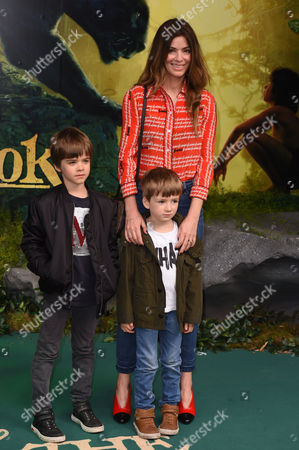Stock Picture of Sara MacDonald with sons Donovan Gallagher and Sonny Gallagher