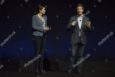 Producer Lindsey Collins and director Andrew Stanton