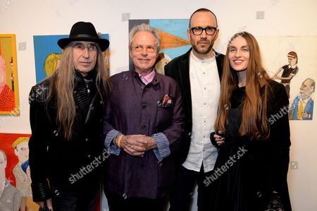 Stock Picture of Michael Lindsay-Hogg, Glauco Della Sciucca and Guests