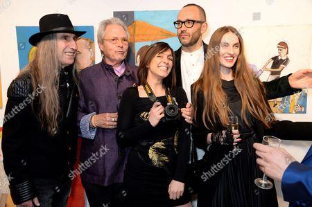 Stock Image of Guest, Michael Lindsay-Hogg, Sara Di Minni, Glauco Della Sciucca