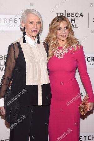 Stock Picture of Maye Musk and Marina Arsenijevic