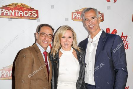Stock Photo of Hal Luftig, Laura Bell Bundy, Jerry Mitchell