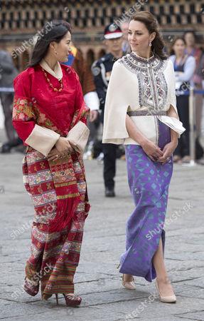 Queen Jetsun Pema Wangchuck, Catherine Duchess of Cambridge, Thimphu Dzong