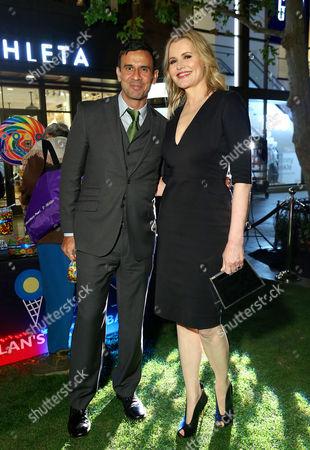 Dr Reza Jarrahy and Geena Davis