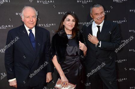 Stock Image of Nicola Bulgari, Beatrice Bulgari and Jean-Christophe Babin