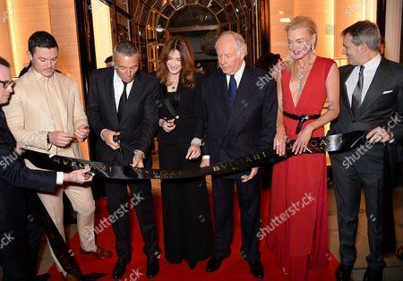 Luke Evans, Jean-Christophe Babin, Carla Bruni-Sarkozy, Nicola Bulgari, Princess Lilly Zu Sayn Wittgenstein Berleburg