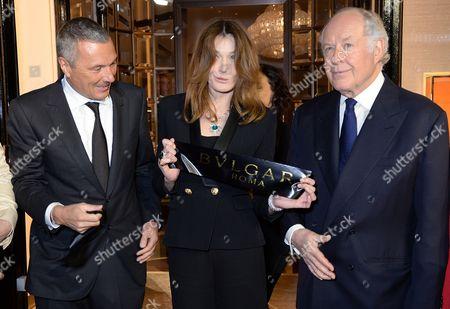 Jean-Christophe Babin, Carla Bruni-Sarkozy, Nicola Bulgari