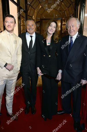 Luke Evans, Jean-Christophe Babin, Carla Bruni-Sarkozy, Nicola Bulgari