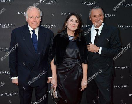 Nicola Bulgari, Beatrice Bulgari and Jean-Christophe Babin