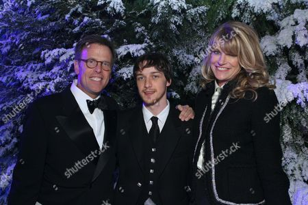 Producer Mark Johnson with James McAvoy and Lezlie Johnson