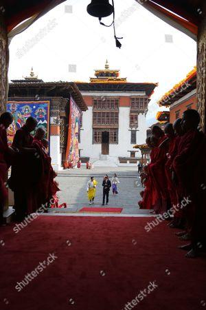 Queen Jetsun Pema, King Jigme Khesar Namgyel Wangchuck, Prince William, Catherine Duchess of Cambridge, Thimphu Dzong