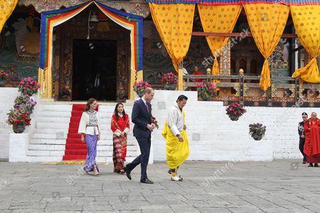 Catherine Duchess of Cambridge, Queen Jetsun Pema, Prince William, King Jigme Khesar Namgyel Wangchuck, Thimphu Dzong