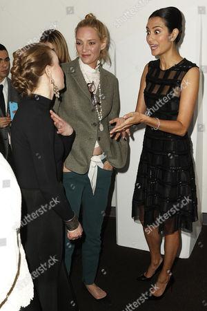 Allyson Crawford, Uma Thurman and Emma Heming