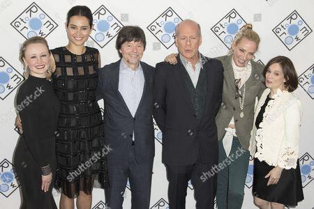 Allyson Crawford, Emma Heming, Ken Burns, Bruce Willis, Uma Thurman and Julie Deborah Brown