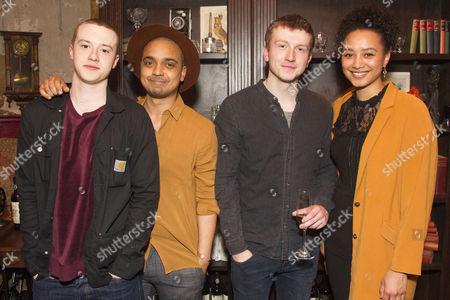 Joseph Quinn (Maurice), Danny Lee Wynter (Lefranc), Tom Varey (Green-Eyes) and Emma Naomi (The Watch)
