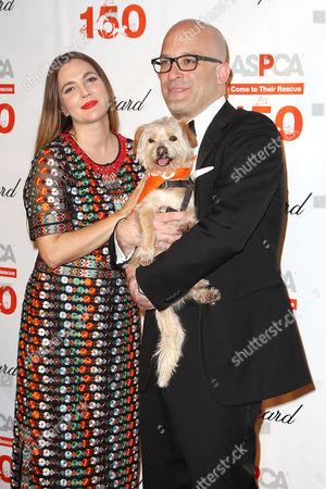 Drew Barrymore and Matthew Bershadker (Pres & CEO; ASPCA)