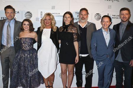 Jason Sudeikis, Maisie Williams, Michelle Purple, Jessica Biel, Bill Purple, Richard Robichaux and Justin Timberlake