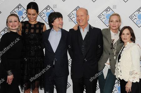 Stock Image of Allyson Crawford, Emma Heming, Ken Burns, Bruce Willis, Uma Thurman and Julie Deborah Brown