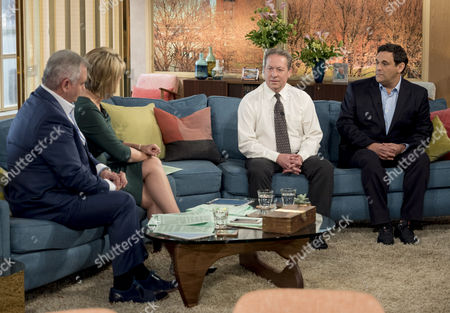 Stock Photo of Eamonn Holmes and Ruth Langsford with Kenny Sansom and Daniel Gerrard
