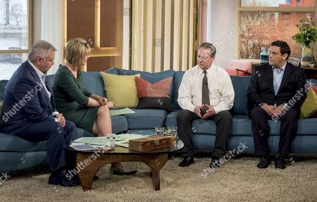 Eamonn Holmes and Ruth Langsford with Kenny Sansom and Daniel Gerrard
